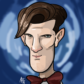 Eleventh Doctor Caricature by WesleyRiot