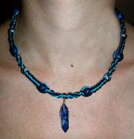 Lapis Lazuli Crystal Necklace by Psy-Sub