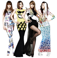 2NE1 Render O2 by AbouthRandyOrton