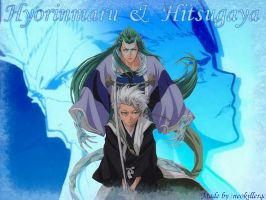 Hitsugaya and hyorinmaru by Neokillerqc