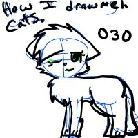 How i draw meh cats... by MistyEm1101