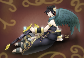 Dark Pit of Kid Icarus by TwilightMoon1996