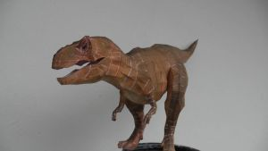 T rex Papercraft first prototype finished by Alejandr0-M