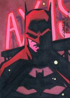 Batman sketch card by KidNotorious