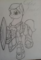 MLP: captain america by lizzytheviking