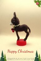 Happy Christmas miniature donkey by BethMiniWorld