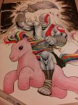GOD OF WAR riding MY LITTLE PONY (commission) by Sajad126