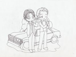 Supernatural--lineart by unicorn-catcher