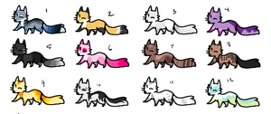 Fox adopts batch 1 by MagisterAdopts