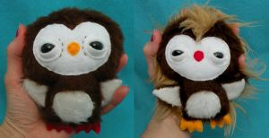 Two Newborn Owlets by loveandasandwich