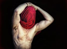 Red rag for the bull by Harpyimages
