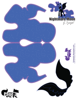 Nightmare Moon Printout 3 by FyreWytch