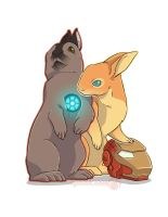 tony and pepper bunnies by alienfirst