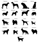Dogs silhouettes by manicobe