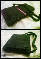 Crochet bag fits a small laptop by GehadMekki