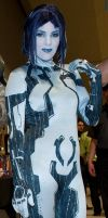 Cortana Costume Full Shot by msventress
