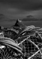 crab pots and castle by mo-guy