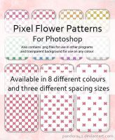 Pixel Flower Patterns for PS by Pandora42