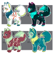 Adult Dog Adopt Batch 01 (CLOSED) by malphas90