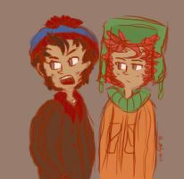 Stan and Kyle sketch by Suivre