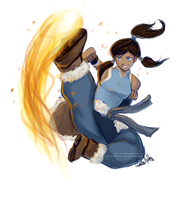 Korra Kick by nor-renee