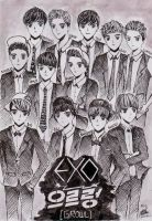 EXO GROWL UNIFORM FANART by MutiaraMustika