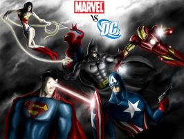 MARVEL VS DC by jose144