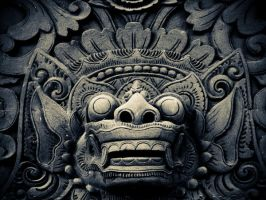 Barong, Bali relief by darkseed