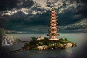 Chinese tower v2 by j-filament