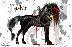Fasfer the demon horse by pookyhorse