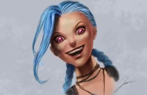 Jinx, League of Legends by Yaztory