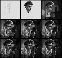 James Dean Drawing Process by creaturedesign
