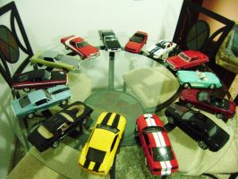 the round table of muscle cars scale 1 18 by EnriqueGomez