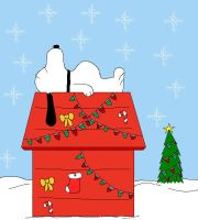 Snoopy's Christmas House.... by pacman8