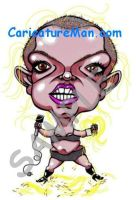 Bald Britney Spears Caricature by CaricatureMandotcom