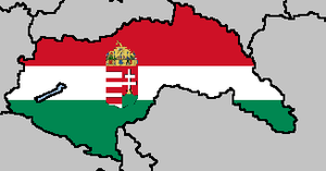 Axis Power Series: The Kingdom of Hungary Flag Map by LtAngemon