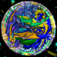 .:Nova and Safire Stained Glass:. by Silver-HeartCrosser