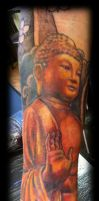 Buddha tattoo by WildThingsTattoo