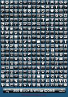 300 Black and White iCONS by 0dd0ne