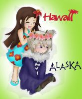 Hawaii and Alaska: Playing Hairdresser by chi171812
