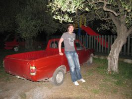 ID: Me with a Datsun GB122 Ute by BlackLeatheredOokami