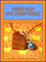 Portal Cake Cell Phone Charm by querulousArtisan