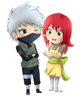 PC- KitsunexKakashi FireFlies by Emi-Ane