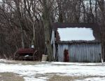 Old Shed and Antique Planter by Artlune
