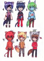 Adoptables Boys sold by MissyAki