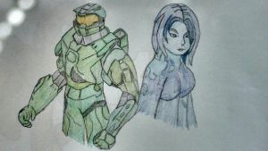 Master Chief and Cortana by StellatheFox26