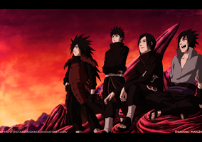 Uchiha Clan return  Thanks for 100.000 Pageviews by IITheYahikoDarkII