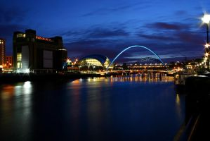 Evening Tyne by AngiWallace