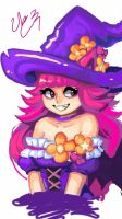 purple cat witch by ranjoo