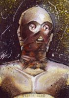 C-3PO Sketch Card by Ethrendil